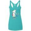 Hockey Unicorn Ladies' Triblend Racerback Tank