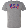 Retro Team USA Hockey Inspired Men's Triblend T-Shirt