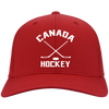 Retro Canada Hockey Inspired Embroidered Twill Cap