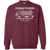 Retro Chicago Stadium Crewneck Pullover Sweatshirt