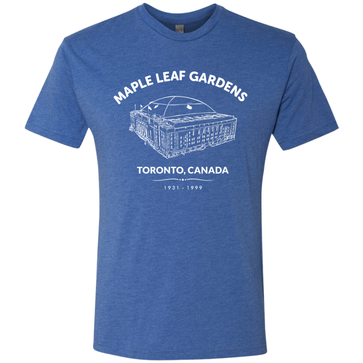 Puckaholics Retro Maple Leaf Gardens Men's Triblend T-Shirt