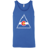 Vintage Inspired Colorado Rockies Inspired Royal Triblend Unisex Tank