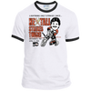 Retro Ron Hextall Strikes Twice Adult Ringer Tee