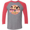 Philly vs. Red Army Team Tri-Blend 3/4 Sleeve Baseball Raglan T-Shirt