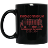 Retro Chicago Stadium 11 oz. Black Mug
