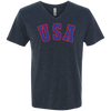 Retro Team USA Hockey Inspired Men's Triblend V-Neck T-Shirt
