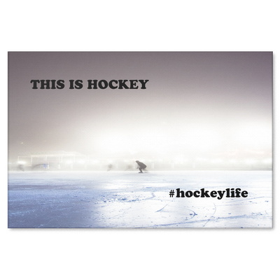 Hockey Life Pond Hockey Canvas Wrap