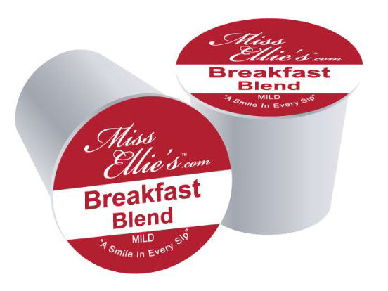 Miss Ellie's Coffee Capsules, Breakfast Blend Package compatible with Keurig K-Cup Brewers, 24 Count