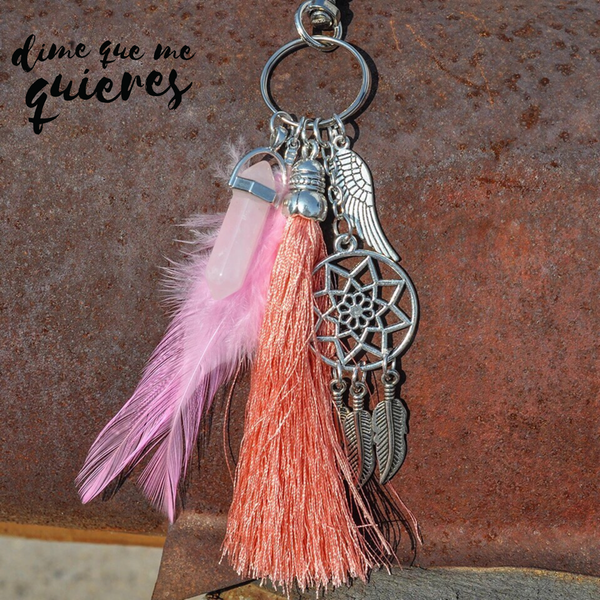 Llavero Boho dream catcher