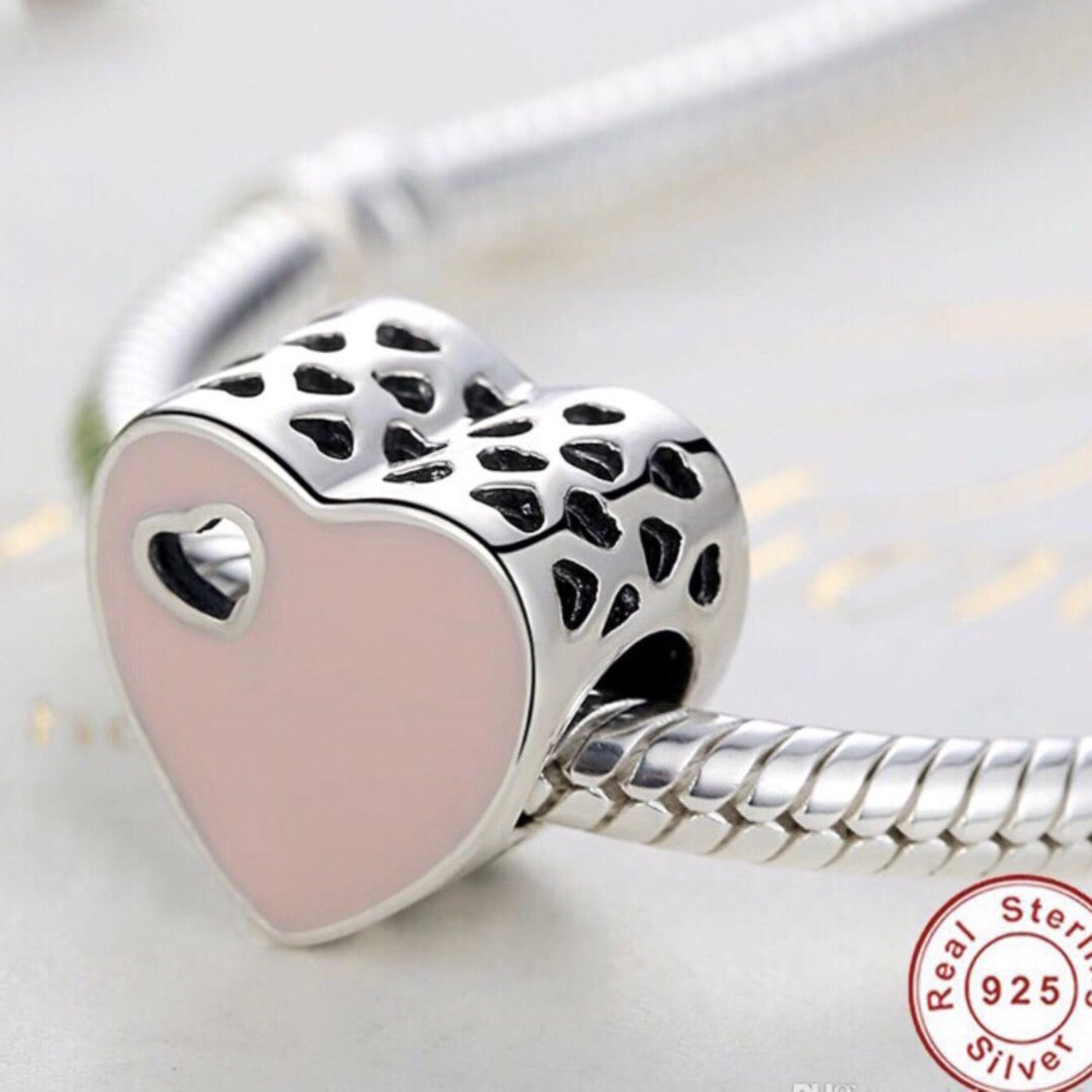 Charm Pink Heart
