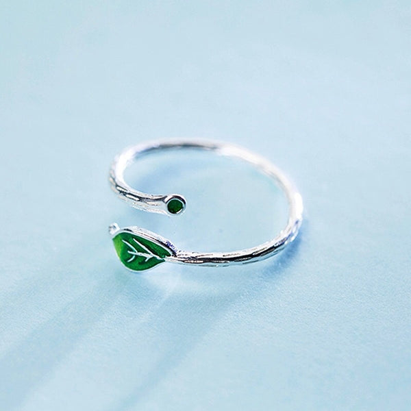 Anillo Green Leaf