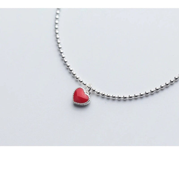 Pulsera de plata Red Heart