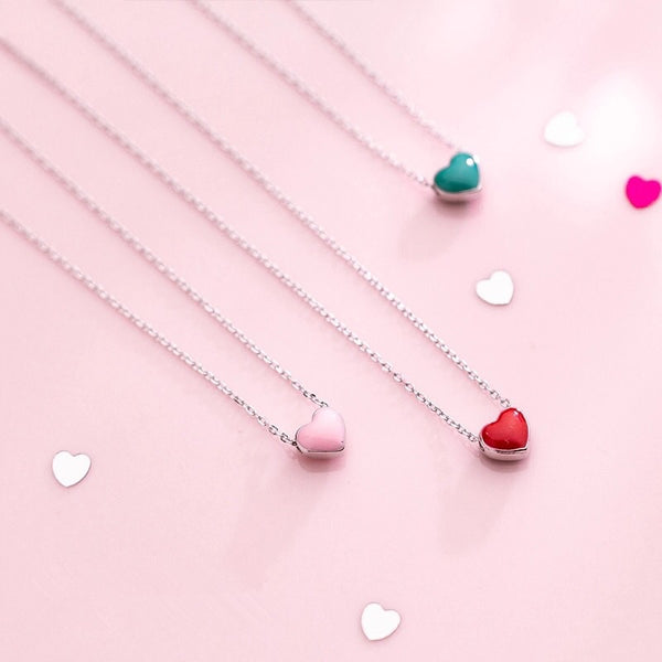 Collar Corazones de Plata mini
