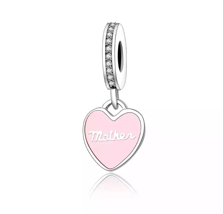 Charm Mother Pink Heart