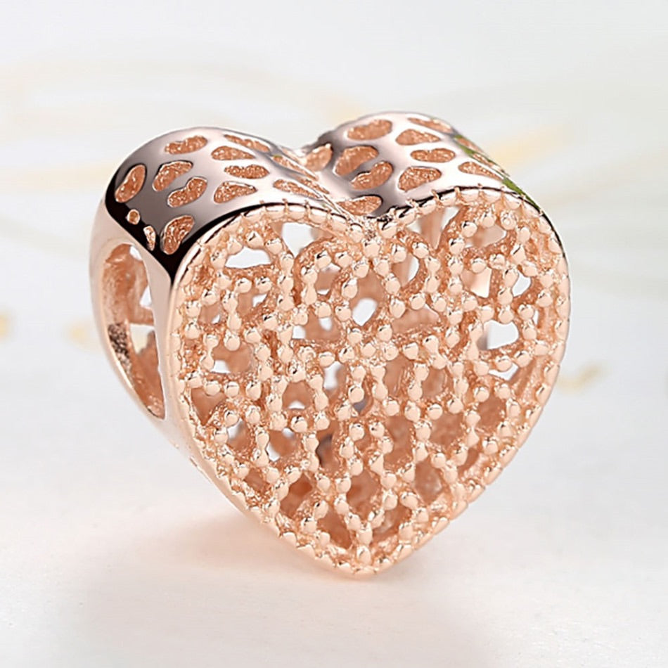 Charm Rose Gold Heart
