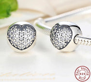 Clip Pave White Heart