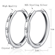 Silver Hoops Crystals