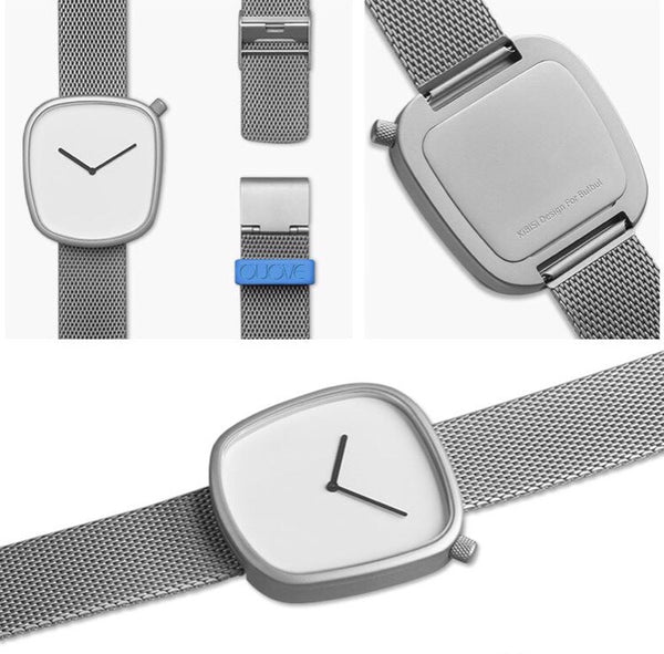 Silver OUOVE Mesh Watch