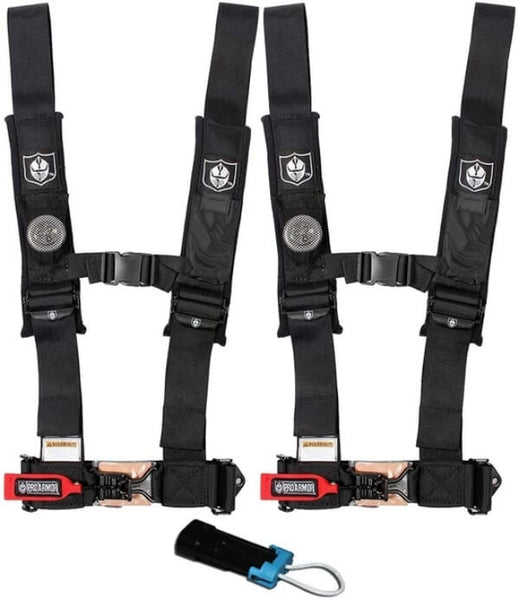 """Pro Armor 4 Point 2"""" Harness Set with Free Polaris / Can-Am Override Plug"""