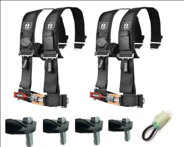 """Pro Armor 4 Point 3"""" Harness Set with Free Lap Bolts and Override Plug"""