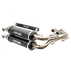 Trinity Racing Polaris RZR XP 1000 EXHAUST FULL DUAL SYSTEM FITS 2014-2020 STAGE 5 BY TRINITY RACING WITH POWERVISION REFLASH TUNER - Rad Parts