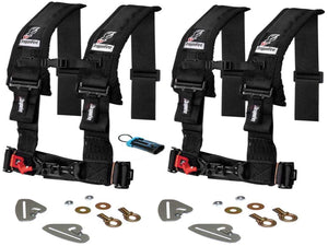 "Polaris RZR Quick Release 4 Point Harness 3"" Kits Dragonfire - Rad Parts"