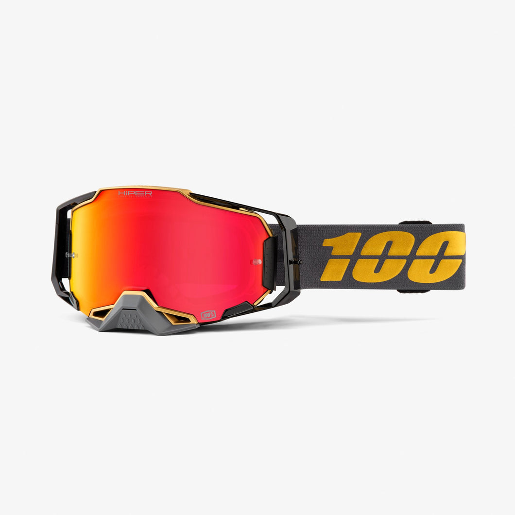 100% Armega Goggles Falcon5 HiPER Red Mirror - Rad Parts