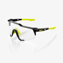 Load image into Gallery viewer, 100% SPEEDCRAFT Sport Performance Sunglasses Gloss Black Photochromic Lens - Rad Parts
