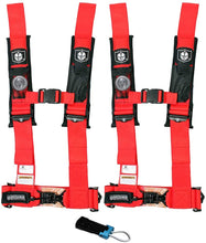 "Load image into Gallery viewer, Pro Armor 4 Point 2"" Harness Set with Free Polaris / Can Am Override Plug"