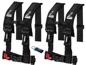 "Dragonfire Racing 4-Point Harness 3"" set with Polaris RZR / Can-Am Maverick Override Plug **Special** - Rad Parts"