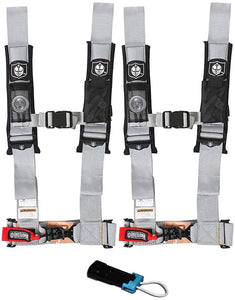 "Pro Armor 4 Point 2"" Harness Set with Free Polaris / Can Am Override Plug"