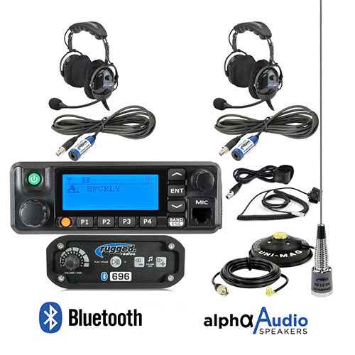 Rugged Radios RRP 696 2-Person System with 60-Watt Radio and BTU Headsets
