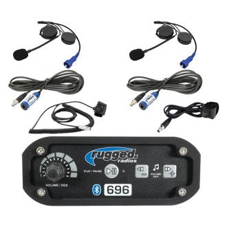 Rugged Radios RRP696 2-Place Intercom System with Alpha Audio Helmet Kits