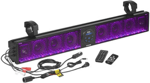 "BOSS AUDIO 36"" RIOT SOUND BAR WITH RGB 8 SPEAKERS FITS 1.5-2.0"" BARS"