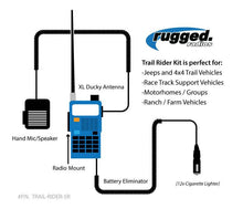 Load image into Gallery viewer, Rugged Radios RH-5R V3 Rugged Radios 5-Watt Dual Band (VHF/UHF) Handheld Radio - Rad Parts