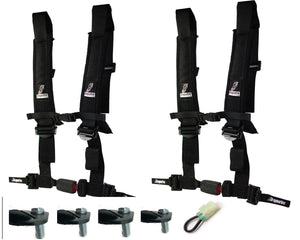 Honda Talon 4 point Auto Latch Harnesses with FREE Lap Bolt Mounts and Override Plug - Rad Parts