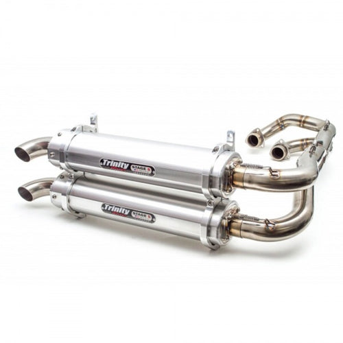Polaris General Full Dual exhaust by Trinity Racing - Rad Parts