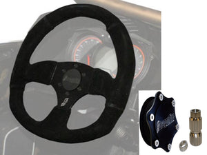 Quick-Release steering wheel Hub and Wheel Kit By DragonFire for Honda Talon - Rad Parts