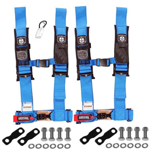 "YXZ 1000R 4 Point Harness 3"" Set with 2 Harnesses and Lap Mounts"