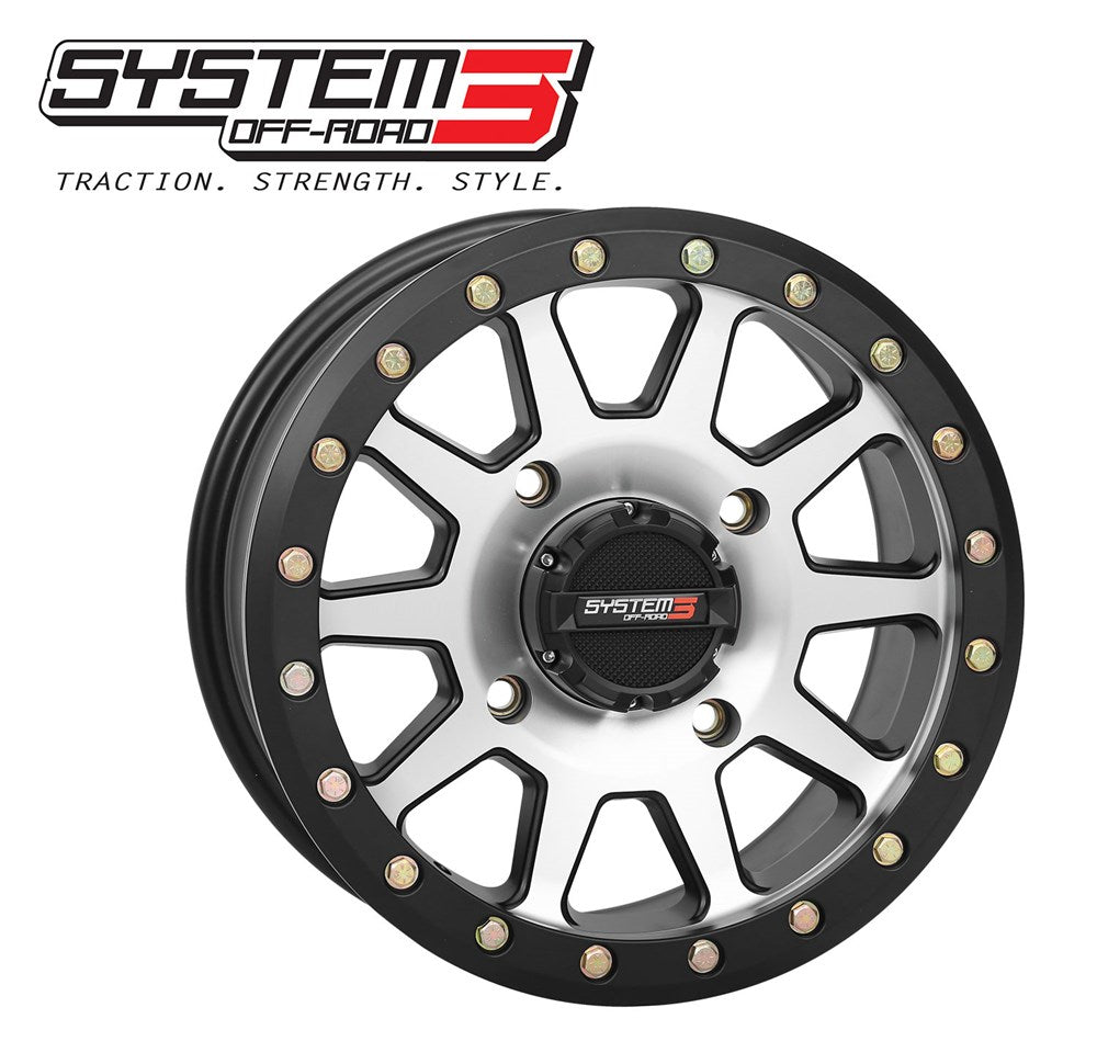 System 3 OFFROAD  Beadlock Wheels Packages for Honda Talon with XCR 350 X-COUNTRY RADIAL TIRES - Rad Parts