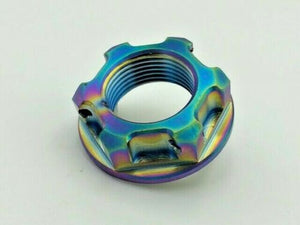 Titanium Rear Axle Nut Honda CBR1000RR & Suzuki GSXR 600 750 by R.A.D. M22x1.5 - Rad Parts