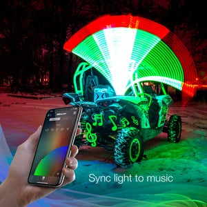 2ND GEN LED WHIP KITS SIDE BY SIDE UTV | XKCHROME WITH SMARTPHONE APP - Rad Parts