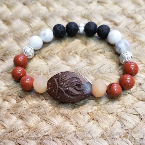 Wood Flower Diffuser Bracelet - Sun Kissed Glow