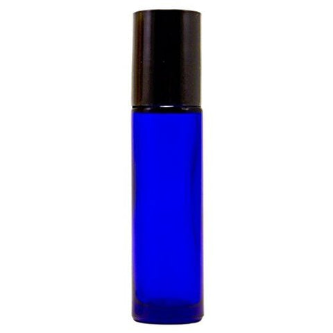 Cobalt Blue Glass Roll on Bottles - Sun Kissed Glow