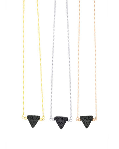 Triangle Lava Diffuser Necklace - Sun Kissed Glow