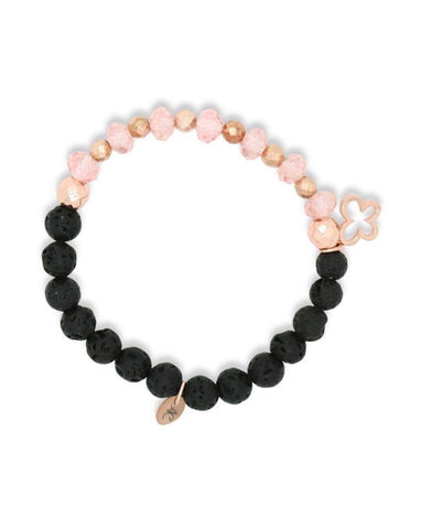 Rose Gold & Crystal Lava Diffuser Bracelet (Kid's) - Sun Kissed Glow