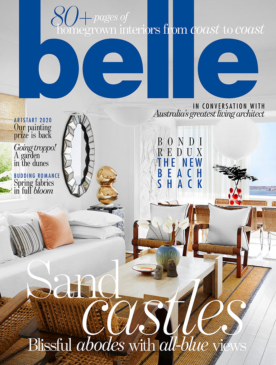 ISE - BELLE MAGAZINE OCTOBER - ORGANIC FORMS BED LINEN COVER