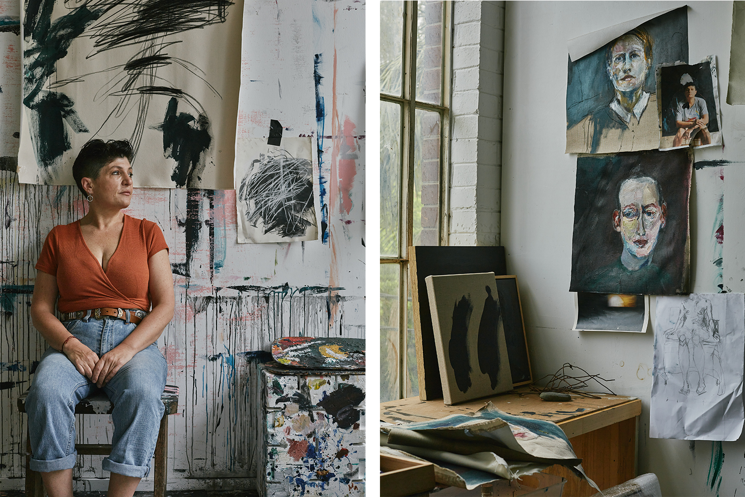 ISE - Love letters to earth series - Antonia Mrljak in her studio where she paints