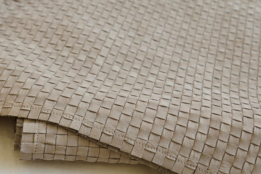ISE SUSTAINABLE ITALIAN LEATHER THROW WOVEN DETAILS FOR THE HOME AND BEDROOM