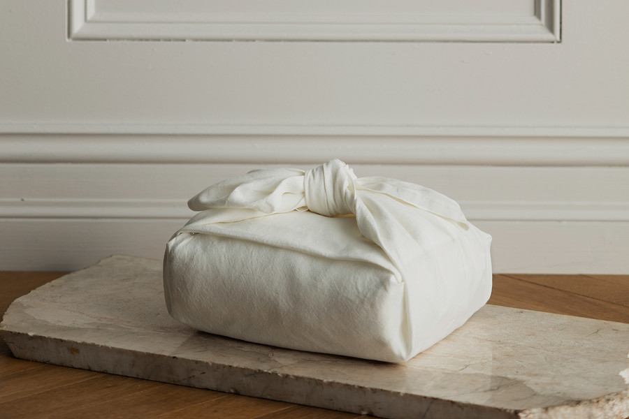 ISE sustainable natural white GOTS organic Belgian linen cloth packaging